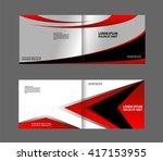 vector empty red bifold... | Shutterstock .eps vector #417153955