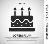 birthday cake icon. birthday... | Shutterstock .eps vector #417156916