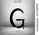 vector hand paint letter g.... | Shutterstock .eps vector #417158092