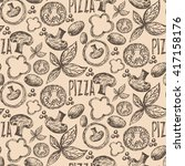 seamless pattern hand drawn... | Shutterstock .eps vector #417158176