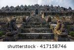 borobudur temple in java | Shutterstock . vector #417158746