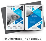 flyer brochure design  business ... | Shutterstock .eps vector #417158878
