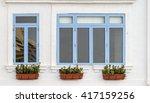 mediterranean windows with...   Shutterstock . vector #417159256