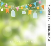 brazilian june party. festa... | Shutterstock .eps vector #417160042