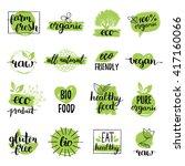 vector eco  organic  bio logos... | Shutterstock .eps vector #417160066