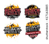 set of retro logos  badges ... | Shutterstock . vector #417163885