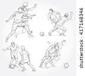 hand drawn illustration of... | Shutterstock .eps vector #417168346
