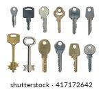 set of different keys | Shutterstock . vector #417172642