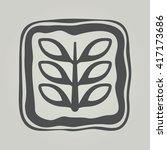 vector symbol of flower... | Shutterstock .eps vector #417173686