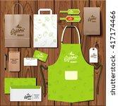 vector organic market corporate ...   Shutterstock .eps vector #417174466