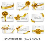 set of beautiful cards with... | Shutterstock .eps vector #417176476