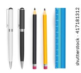 school tools vector set | Shutterstock .eps vector #417181312