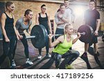 fit young woman lifting... | Shutterstock . vector #417189256