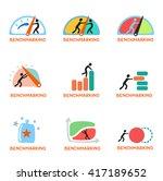 benchmarking concept logo ... | Shutterstock .eps vector #417189652