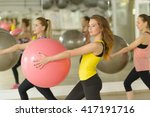 people exercising with fitness... | Shutterstock . vector #417191716