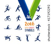 sports icons set. symbol sport... | Shutterstock .eps vector #417192292