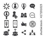 social network icon | Shutterstock .eps vector #417201025