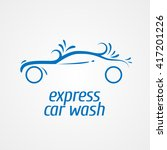 car wash vector label  sign ... | Shutterstock .eps vector #417201226