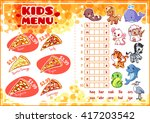 Kids Pizza Carte For Fast Food...