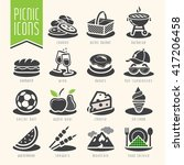 picnic icon set | Shutterstock .eps vector #417206458