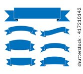 blue ribbon banners set.... | Shutterstock .eps vector #417210142
