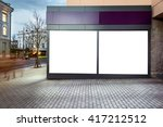 mock up of blank white modern... | Shutterstock . vector #417212512