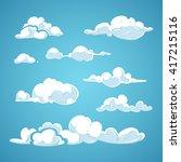 cartoon clouds vector set.... | Shutterstock .eps vector #417215116