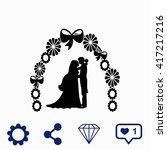 wedding icon. | Shutterstock .eps vector #417217216