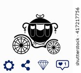 carriage icon. | Shutterstock .eps vector #417217756