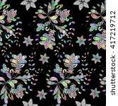 seamless texture on black... | Shutterstock .eps vector #417219712
