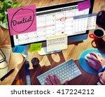 dentist healthcare medical... | Shutterstock . vector #417224212