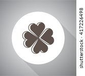 clover simple vector icon.... | Shutterstock .eps vector #417226498