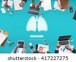lungs medicine pneumonia asthma ... | Shutterstock . vector #417227275