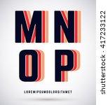 set of typographic alphabet... | Shutterstock .eps vector #417233122