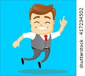 manager character happy and... | Shutterstock .eps vector #417234502