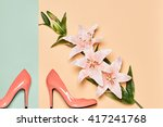 fashion woman accessories set.... | Shutterstock . vector #417241768