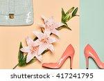 fashion woman accessories set.... | Shutterstock . vector #417241795