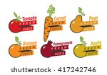 set of drawings fruits with the ... | Shutterstock .eps vector #417242746