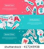 set of horizontal banners about ... | Shutterstock .eps vector #417245938