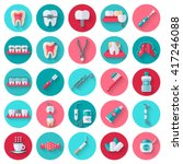 dental flat icons set in...   Shutterstock .eps vector #417246088