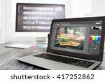 photographer camera editor... | Shutterstock . vector #417252862