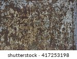 texture of rusty metal with an... | Shutterstock . vector #417253198