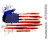 Flag Of America. Watercolor