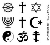 religious icon set  ... | Shutterstock .eps vector #417259732