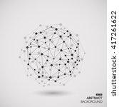 molecule structure  gray...   Shutterstock .eps vector #417261622