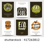 vector set with eco friendly... | Shutterstock .eps vector #417263812