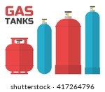 Gas Tanks Set. Various Gas...