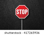 red road sign with the words... | Shutterstock . vector #417265936