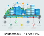 flat design vector info graphic ... | Shutterstock .eps vector #417267442