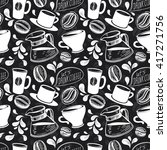 chalk drawn seamless pattern... | Shutterstock .eps vector #417271756